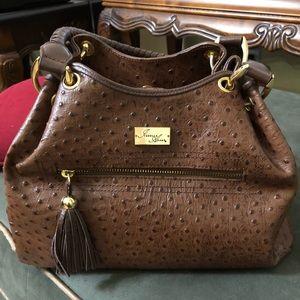 Handbags - Brown Kelly handbag embossed
